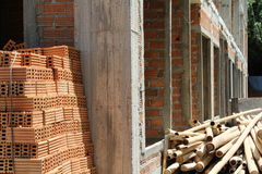 Brick pile Royalty Free Stock Image