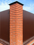 Brick pillar fence Stock Image