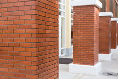 brick pillar Stock Photo