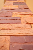 Brick Pillars 02. Brick Pillars made form brick .It It was set up as a pattern to decorate houses Royalty Free Stock Images