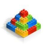 Brick piramid meccano toy Royalty Free Stock Photography