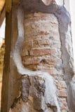 Brick Through Plaster on Pompeii Column Stock Photography