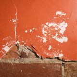 Brick and plaster wall. Royalty Free Stock Photos