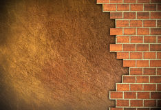 Brick and plaster wall. Stock Image