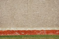 Brick and Plywood Wall Background Royalty Free Stock Images