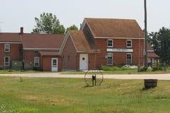 Brick post office. Historic brick post office, South Amana, Iowa stock photos