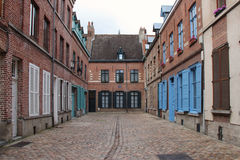 Brick private houses - Lille - France Royalty Free Stock Photo