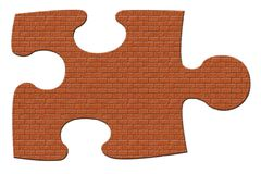 Brick Puzzle Piece Stock Images