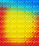 Brick Rainbows Background Royalty Free Stock Photography