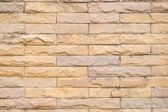 Brick red background, stains on the wall The weather has long sun. Stock Photography