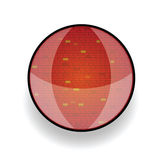 Brick red in circle vector illustration Royalty Free Stock Photo