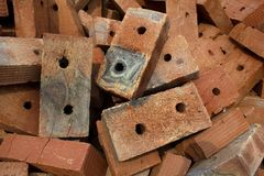 Brick  red  clay  ceramic Royalty Free Stock Images