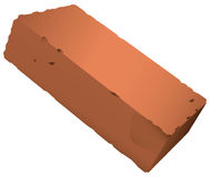 Brick from red clay. Standard brick from red clay. Vector illustration royalty free illustration
