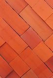 Brick, red row of bricks Royalty Free Stock Photography