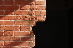 Brick red wall Stock Photos