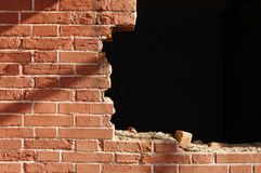 Brick red wall Royalty Free Stock Images