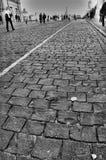 Brick road Stock Photo