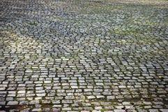 Brick road. An old brick road Stock Photos
