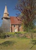 Brick Romanesque church in Neu Boltenhagen, Germany Stock Photo