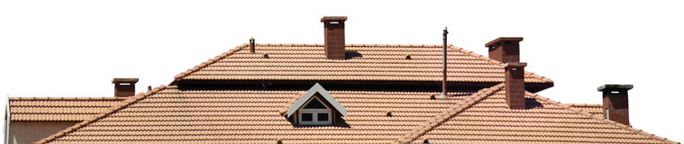 Brick Roof Stock Photo