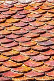 Brick roof tiles Stock Image