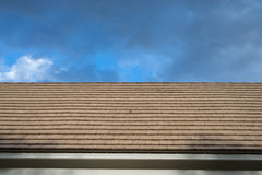 A brick Roof Top. A Roof Top with blue sky Royalty Free Stock Images