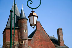 Brick roofs of medieval town Royalty Free Stock Images