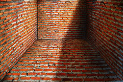 Brick room Royalty Free Stock Image