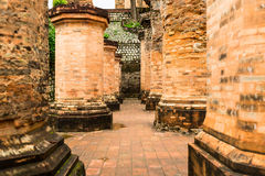 The brick ruins of an old temple in Vietnam, tourist, Nha Trang Stock Image