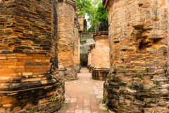 The brick ruins of an old temple in Vietnam, tourist, Nha Trang Stock Photos