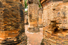 The brick ruins of an old temple in Vietnam, tourist, Nha Trang Royalty Free Stock Photography