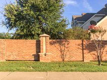 Brick Screen Walls Residential Houses In Dallas-Fort Worth Area, Royalty Free Stock Photo