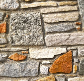 Brick in  sempione street italy  varese abstract    and marble Royalty Free Stock Image