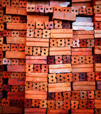 Brick. Set of Abstract Red brown Brick background Royalty Free Stock Photography
