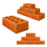 Brick set Royalty Free Stock Images