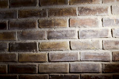 Brick and shadow background. Horizontal brick and shadowed field for background use royalty free stock photo