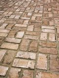 Brick Sidewalk Royalty Free Stock Photo