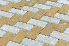 Brick sidewalk Stock Photo