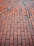 Brick sidewalk Royalty Free Stock Photos