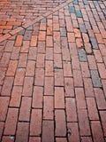 Brick sidewalk Royalty Free Stock Photos