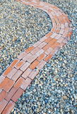 Brick Sidewalk Detail Stock Photography