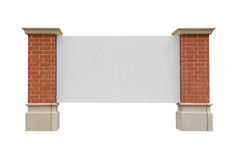 Brick sign Stock Photo