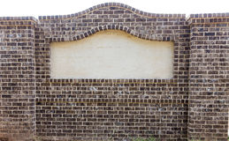 Brick Sign with Blank Space Stock Image