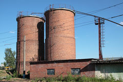 Brick silos Stock Image