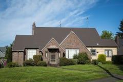 Brick single-family house Stock Photos