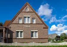 Brick single family house home, Germany Royalty Free Stock Photography