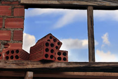 Brick and sky Royalty Free Stock Photography