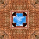 Brick and Sky Seamless Tile Background stock photography