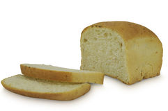 Brick of sliced bread isolated on white background Stock Photo