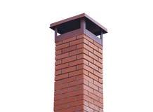 Brick smokestack isolated on white. Background Royalty Free Stock Photos